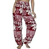 Lofbaz Women's Drawstring Boho Yoga Harem Pants