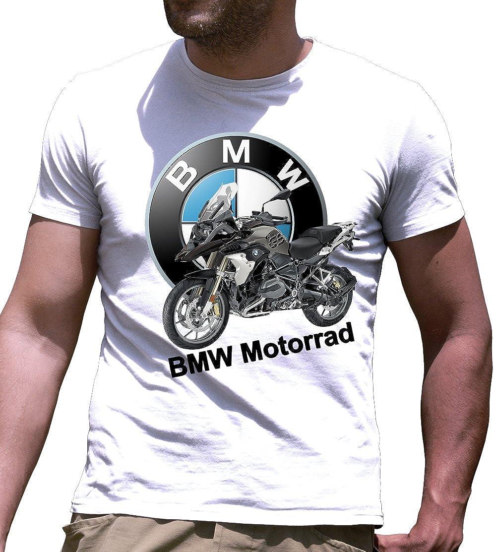 Camiseta de Manga Corta BMW Motorrad GS Impresos a Mano: Amazon.es ...