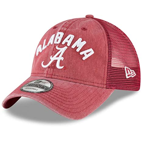 new york 6f8a6 6f975 Image Unavailable. Image not available for. Color  New Era Alabama Crimson  Tide Rugged Stack 9TWENTY Adjustable Hat Cap