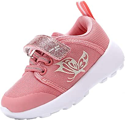 EIGHT KM Boys and Girls Toddler Kids EKM7022 Lightweight Breathable Fabric Sparkly Designer Trainers School Shoes
