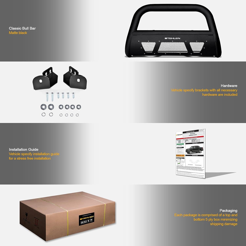 2001-2007 Sequoia Stehlen 714937182981 3 Studded Mesh Series Bull Bar Matte Black For 1999-2006 Toyota Tundra
