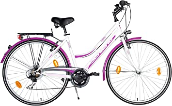 F.lli Schiano CTB Trekking Infinity Bicicleta, Mujer, Blanco/Violeta, 28