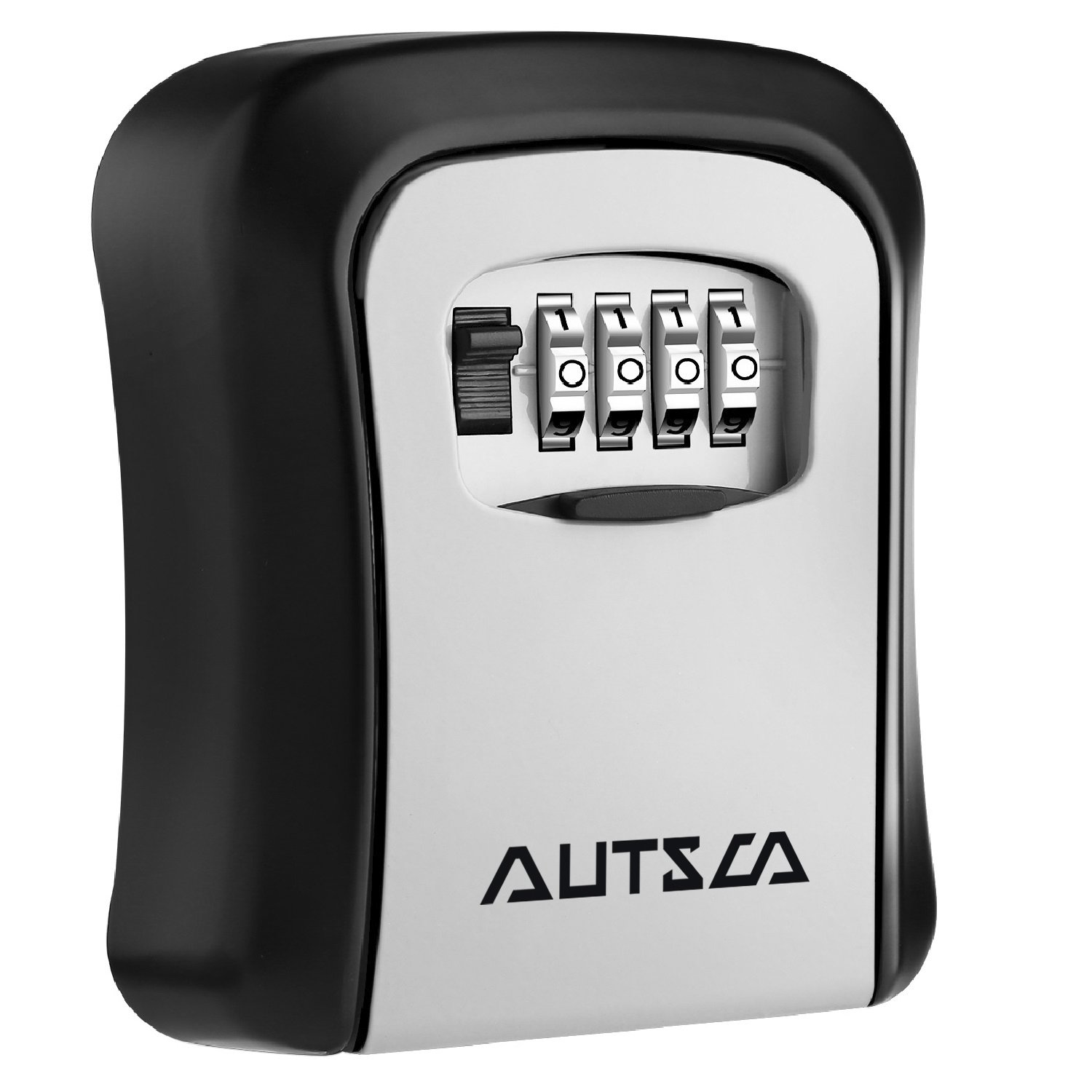 AUTSCA Key Lock Box Wall Mounted Stainless Steel Key Safe Box Weatherproof 4 Digit Combination Key Storage Lock Box Indoor Outdoor by AUTSCA (Image #1)