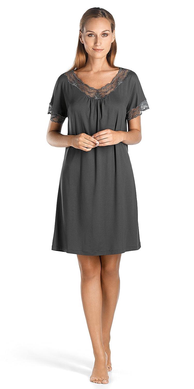HANRO Womens Valencia Short Sleeve Gown 79563