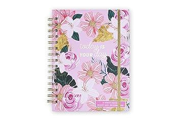Tri-Coastal Design – Agenda de 17 meses 2020 con planificador semanal – Tapa rígida resistente – Elegante funda decorada (pink floral)