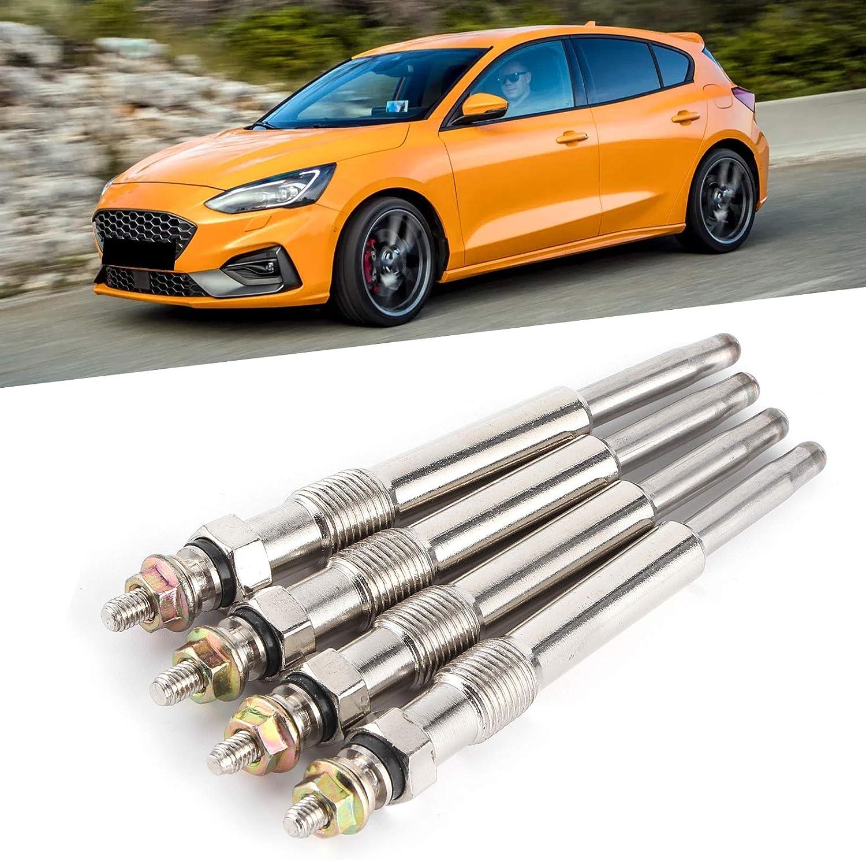 Ladieshow 4 Pezzi//Set candelette universali preriscaldatore Diesel Plug Adatto per Ford Focus//Transit//C ‑ Max