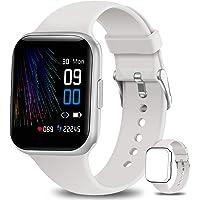NAIXUES Smartwatch, Reloj Inteligente IP68 para Mujer Hombre, Reloj Deportivo con Monitor de Sueño Pulsómetro Podómetro…