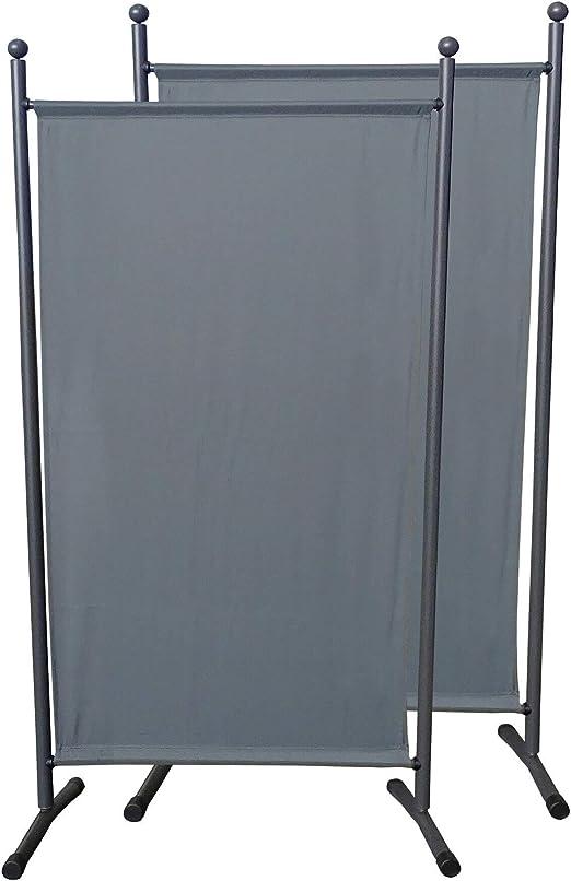 QUICK STAR 2 Pezzi Paravento da Giardino 150 x 190 cm Divisorio in Tessuto Protezione della Privacy Beige