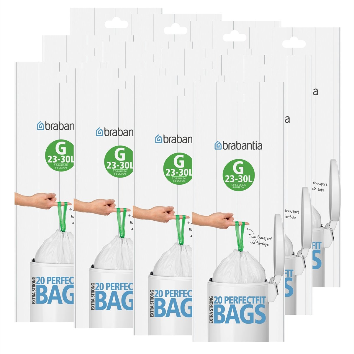 Brabantia Size G 30 Litre Bin Liners (3 Pack)