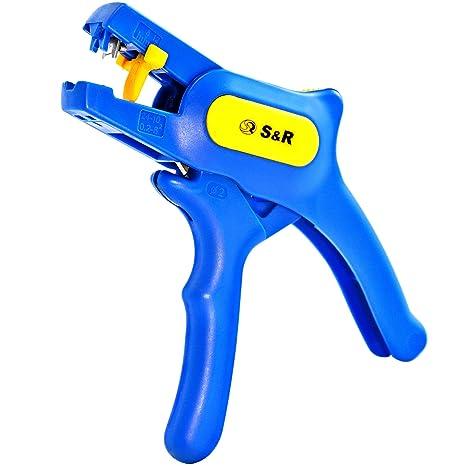 S&R Alicate Pelacables Crimpadora Automática 0,2-6mm² Herramienta de desprendimiento rapido con corte