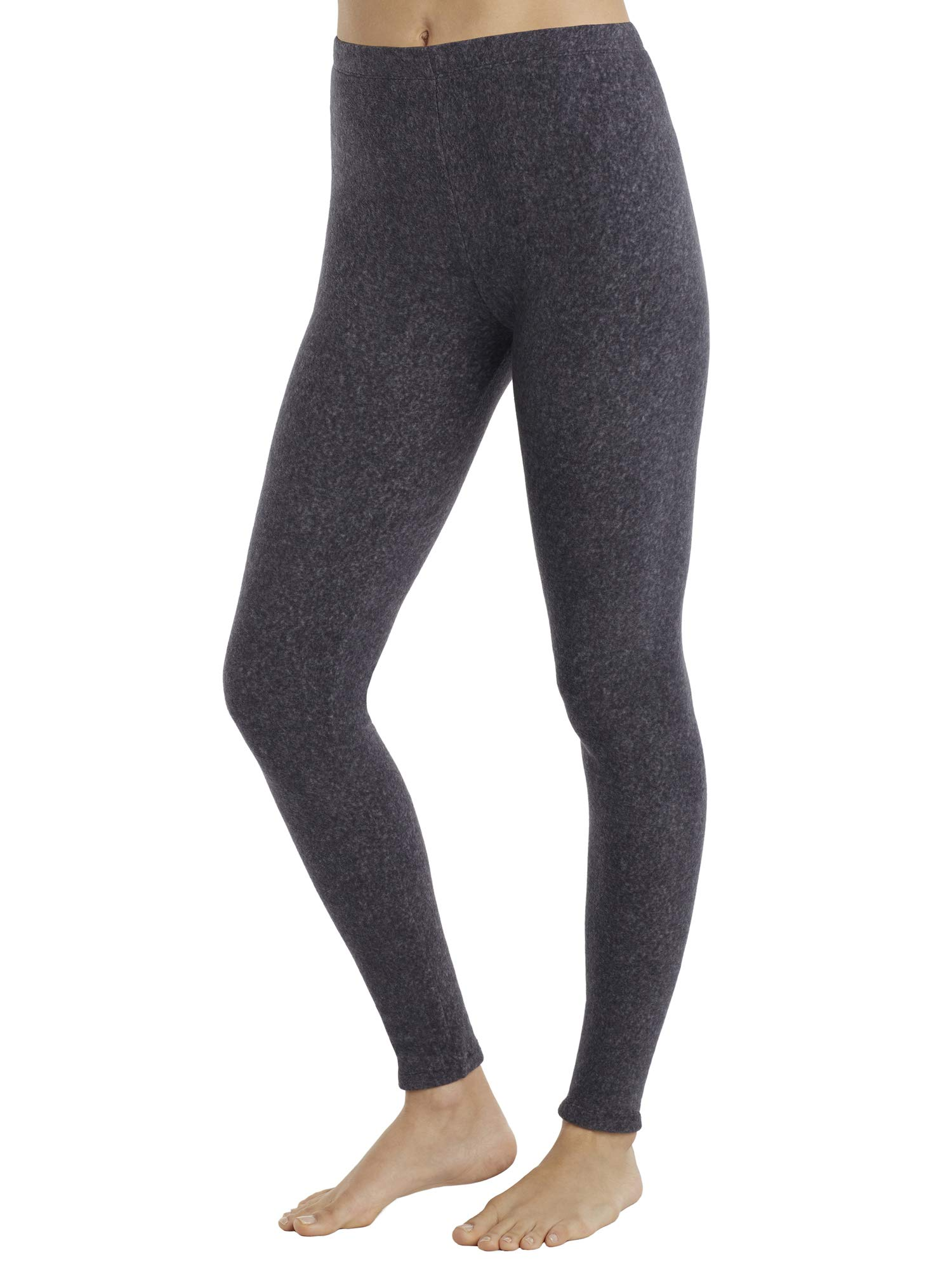 Cuddl Duds ClimateRight Womens Stretch Fleece Warm Underwear Leggings Pants (M, Grey Cationic) by Cuddl Duds