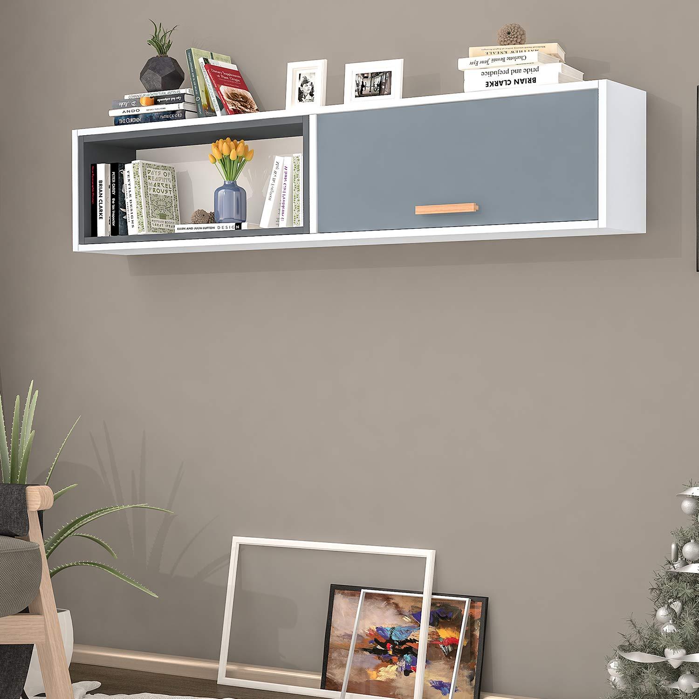 Bravo Home Safir Wall Shelf With 4 Shelves (Emerald And White)