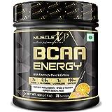 MuscleXP BCAA Energy With Caffeine, BCAA 7000, L-Glutamine, Citrulline Malate, Orange, 400g (14 oz) - 28 Servings