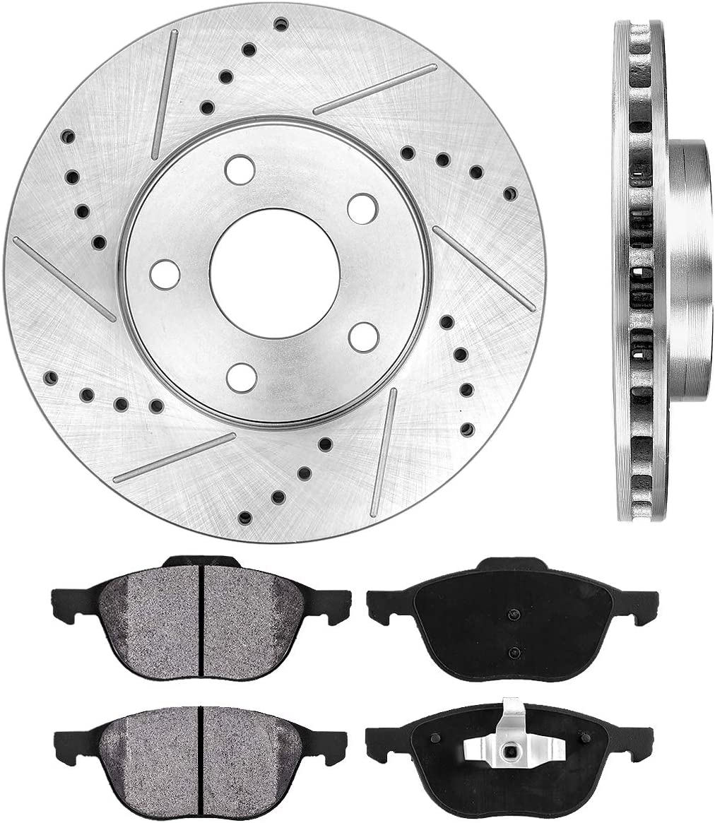 Ceramic Pads for 2012-2016 2017 2018 Ford C-Max Focus C30 Front Brakes Rotor