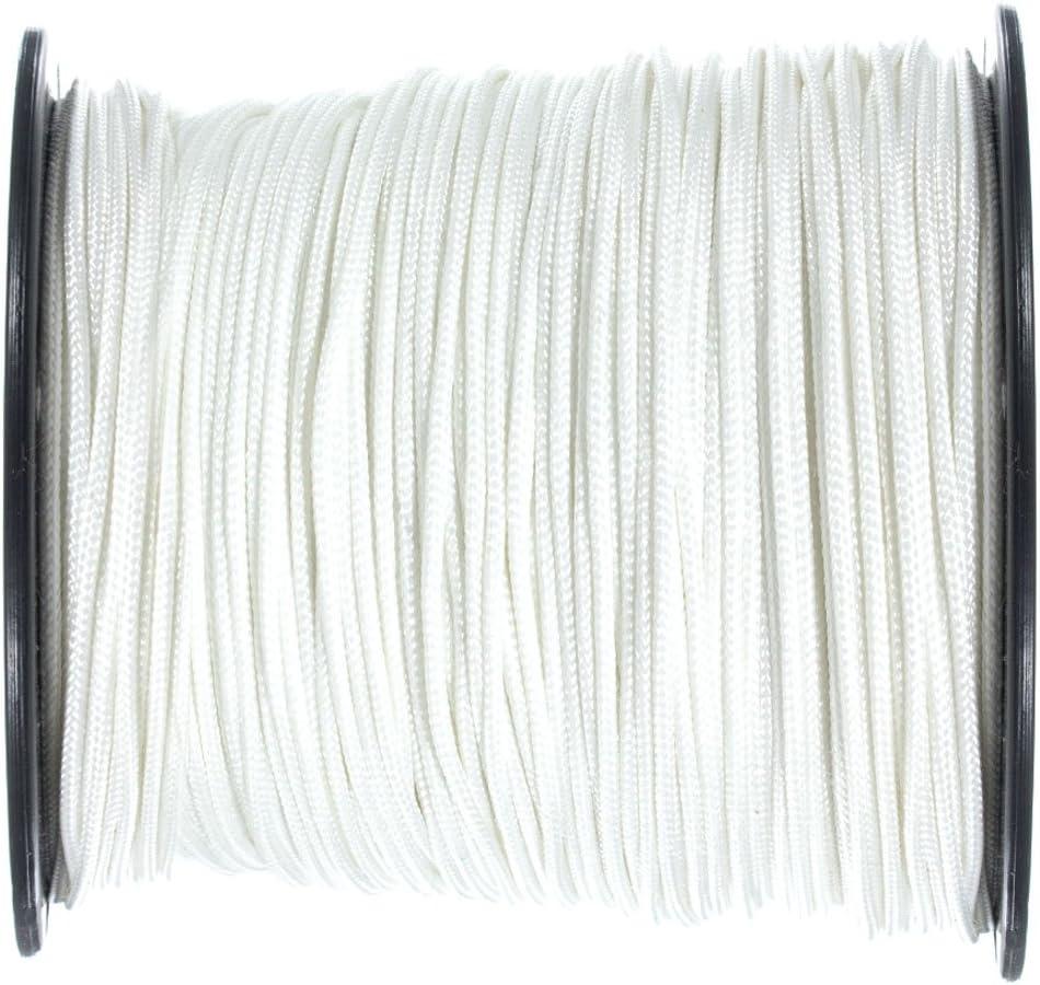 1//8 Inch x 100 Feet Black Solid Braid Nylon Rope