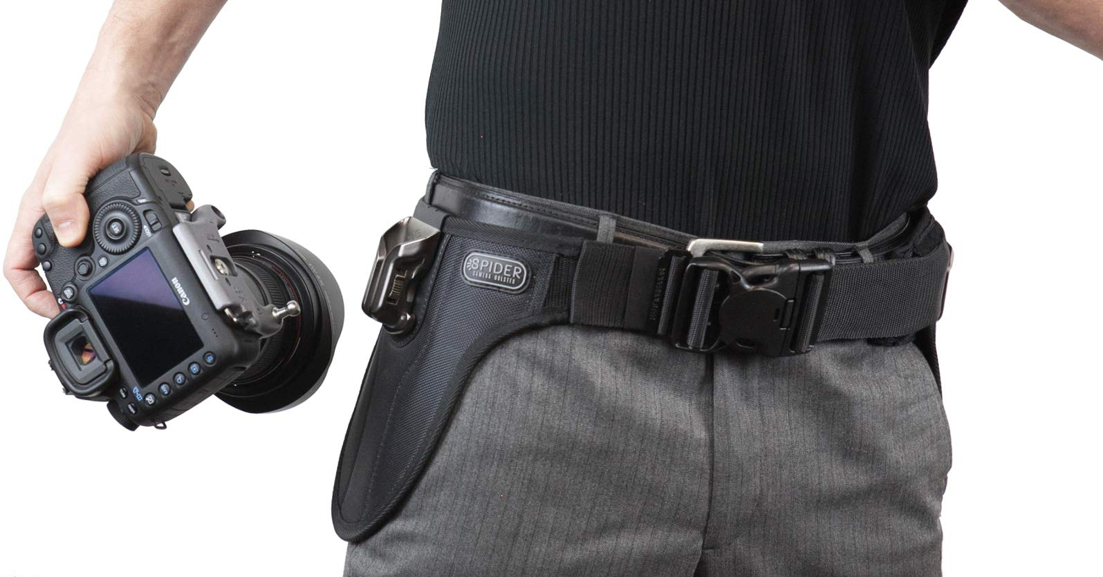 Spider Camera Holster SpiderPro Single Camera System v2 (SCS) with Leather SpiderPro Hand/Wrist Strap Bundle by SpiderHolster (Image #5)