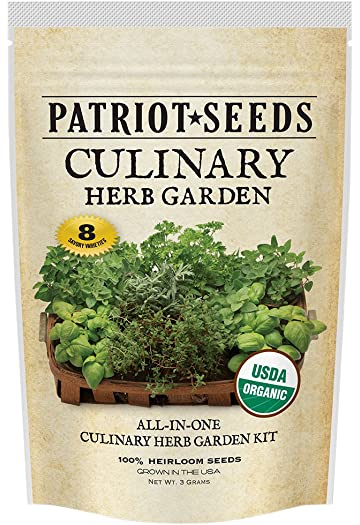 Amazon com : Patriot Seeds 8 Easy-To-Grow Varieties Organic