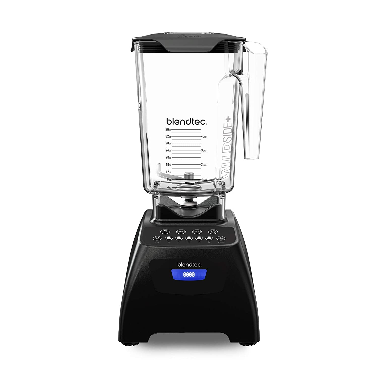 Blendtec Classic 575 Blender - WildSide+ Jar (90 oz) - Professional-Grade Power - Self-Cleaning - 4 Pre-programmed Cycles - 5-Speeds - Black