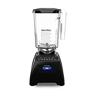Blendtec Classic 575 Blender - WildSide+ Jar (90 oz) - Professional-Grade Power - Self-Cleaning - 4 Pre-programmed Cycles - 5-Speeds - Black (Certified Refurbished)