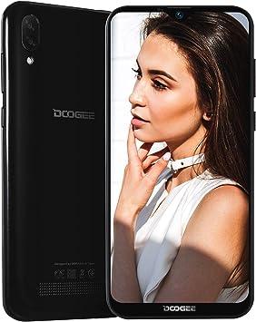 Telefonos Movils Libres, 2019 DOOGEE X90 Android 8.1 Smartphones Libres Doble Sim 3G, 19:9 Pantalla 6.1, Quad Core 1Go RAM 16Go ROM, Batería 3400mAh, Cámara Doble 8MP+5MP, Face ID, Negro: Amazon.es: Electrónica