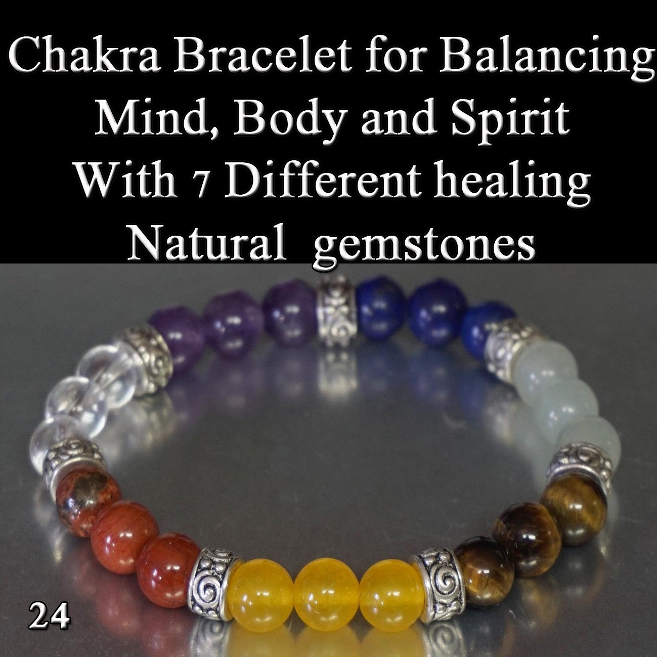 Chakra Set 7 Gemstone Stretch Bracelet to Balance Body Mind Soul Healing Crystal Energetic gifts from nature