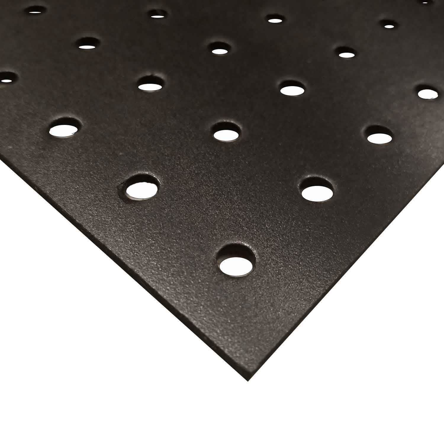 Online Plastic Supply Black Perforated PVC Expanded Sheet 1/8' (3mm) x 24' x 48' (1/4' Holes) (3 Pack)