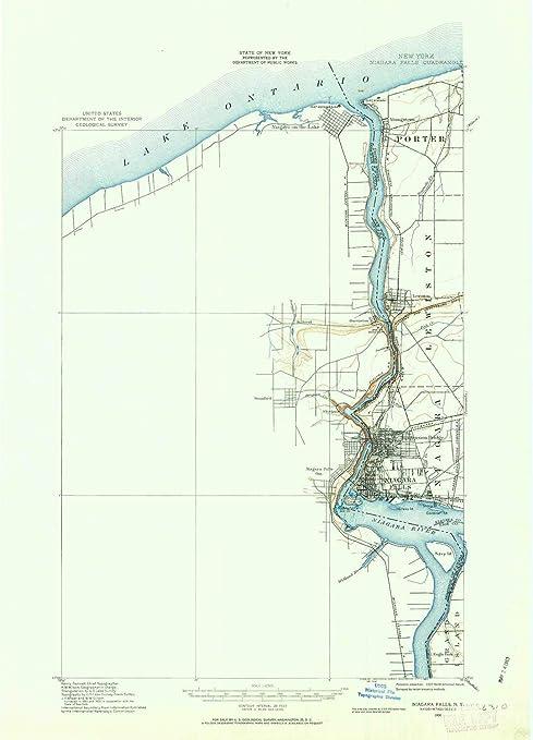 Amazon Com Yellowmaps Niagara Falls Ny Topo Map 1 62500 Scale 15