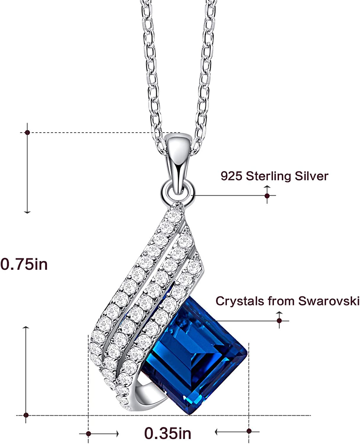 FOIOSDG Embellished with Crystals from Swarovski Necklace Trendy Rhinestone Crystal Pendant Necklaces Silver Gold Statement Jewelry