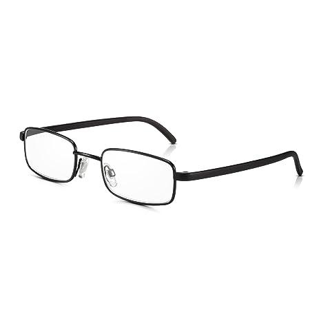 71b67ca180 Read Optics -Gafas de Lectura Vista - Negras Montura Metálica Vintage -  Resistentes/AntiReflejos