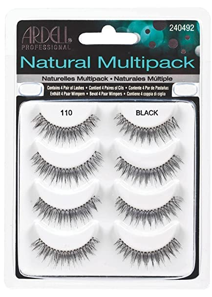 d205444810e Amazon.com : Ardell Natural Multipack Lashes - #110 Black (Pack of 6) :  Beauty