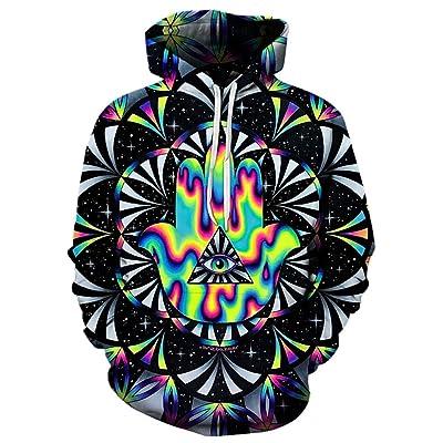 9Yourtime Unisex Astronaut Digital Print Hipster Pullover 3D Hoodie Sweatshirt