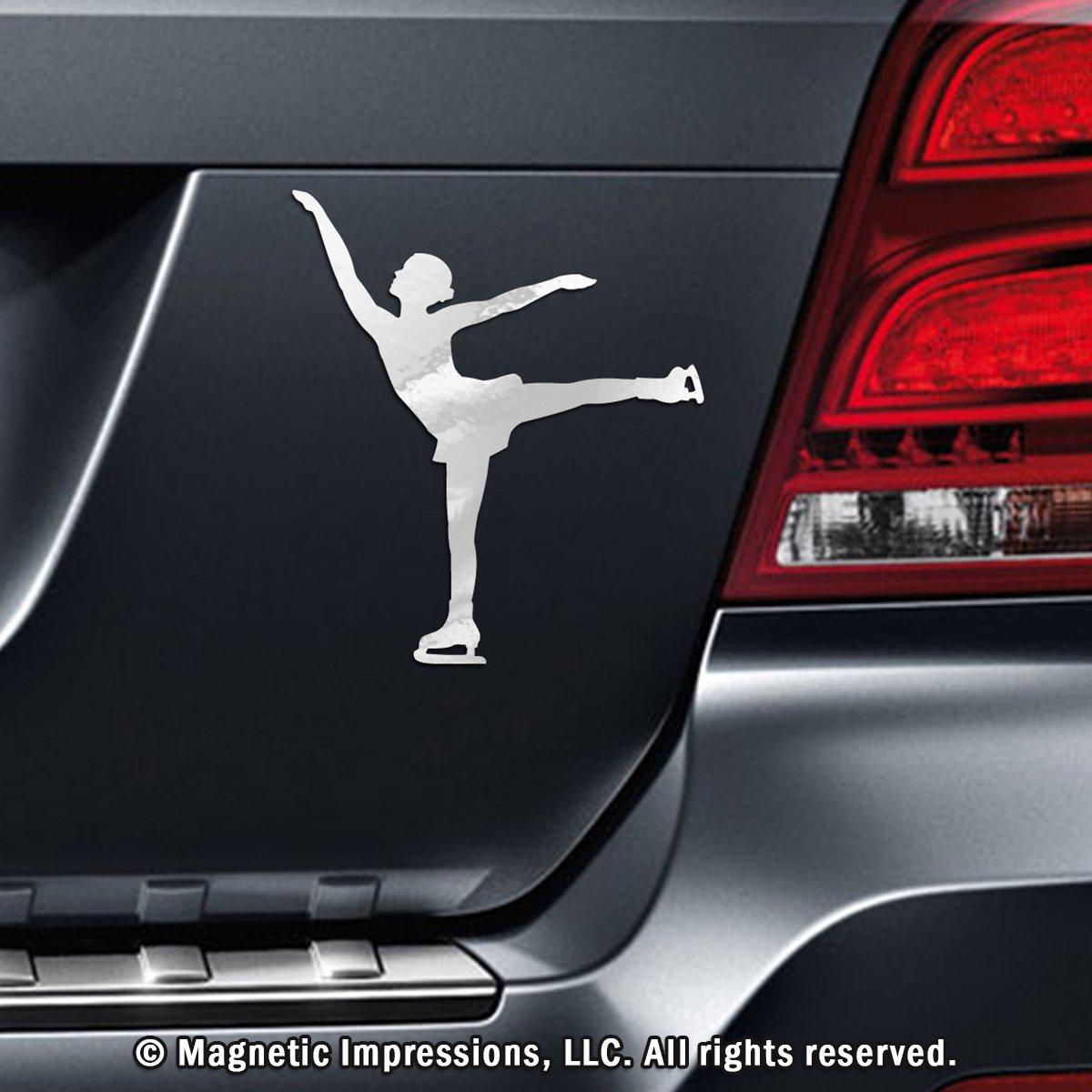 Amazoncom Figure Skater Spiral Car Magnet Black Automotive - Magnetic car decals