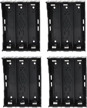 KEESIN 3.7V 18650 Batería Poseedor Caso El plastico Tapa de la batería Caja de almacenamiento con pin(3 Solts × 4 Piezas): Amazon.es: Electrónica