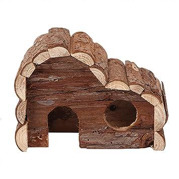 Nobleza 022175 - Casa refugio de madera para roedores. Tipo cabaña, amplia puerta y