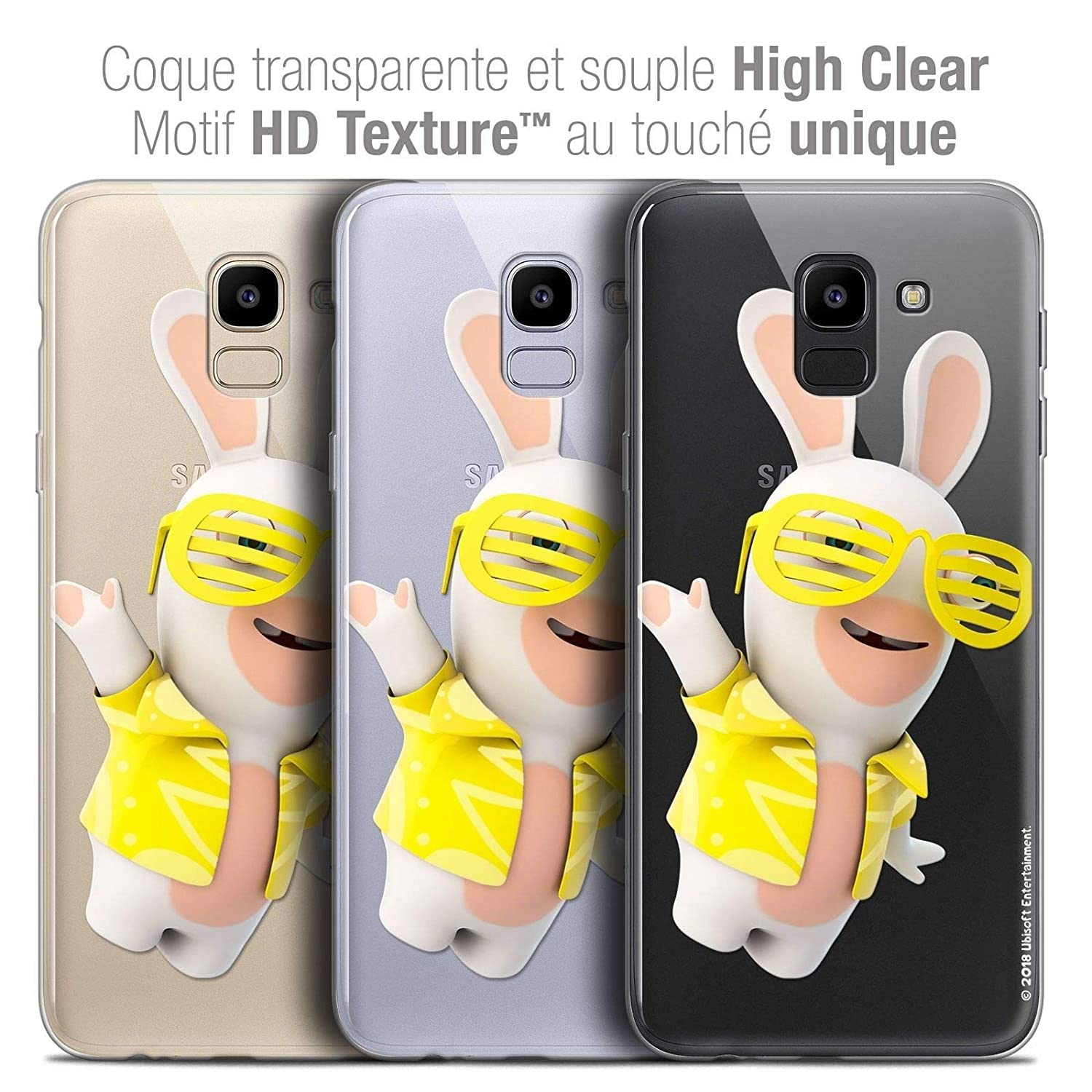 Caseink Coque pour Samsung Galaxy J6 2018 J600 (5.6) The Lapins Crétins®   Collection Officielle  Design Sun Glassss  Antichoc arrière  Amazon.fr   High-tech 4ee168de8964