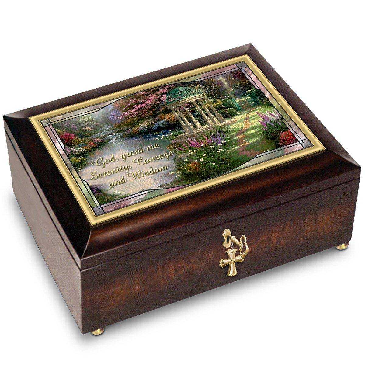 当社の Thomas Kinkade Exchange Serenity Music Prayer With Illuminated Music Box With Prayer Card by The Bradford Exchange B00O635G38, Baby Memorial:9c84189b --- arcego.dominiotemporario.com