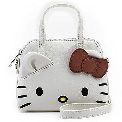 ee7886a0e Loungefly x Hello Kitty Mini Dome Crossbody Bag (One Size, White Multi)