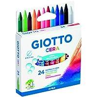 Giotto 282200 - Pastelli a Cera in Astuccio da 24 Colori