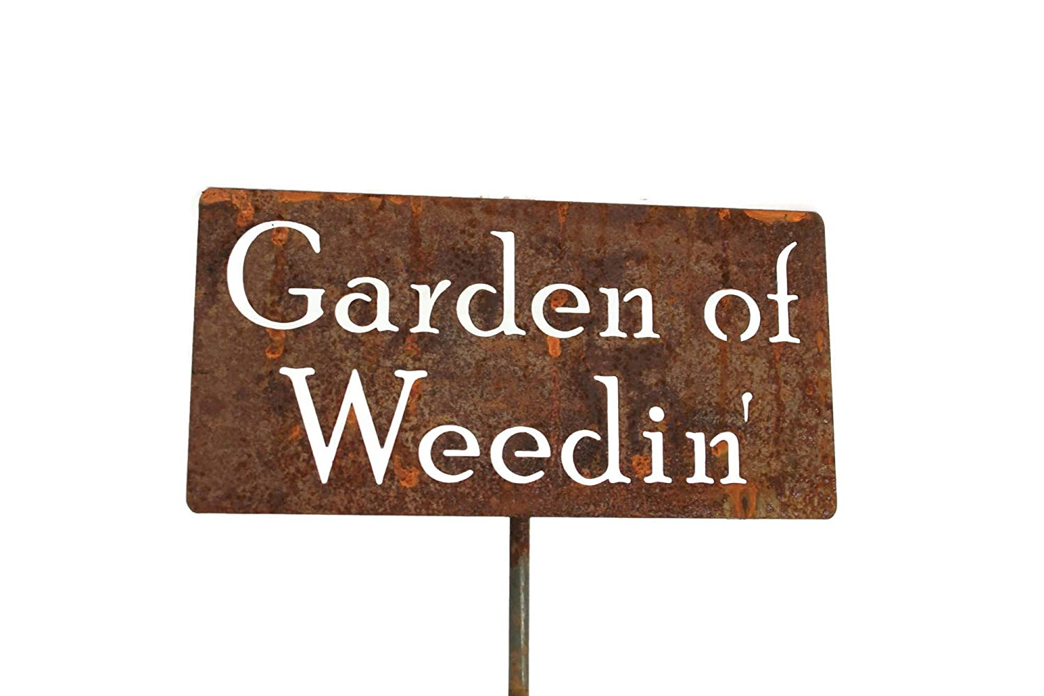 Garden of Weedin' Metal Garden Stake