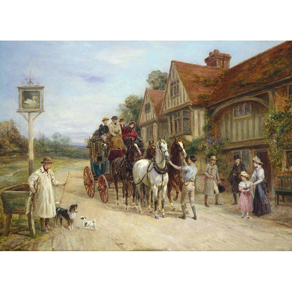 A Halt at the Swan, Heywood Hardy - Medici Drucken