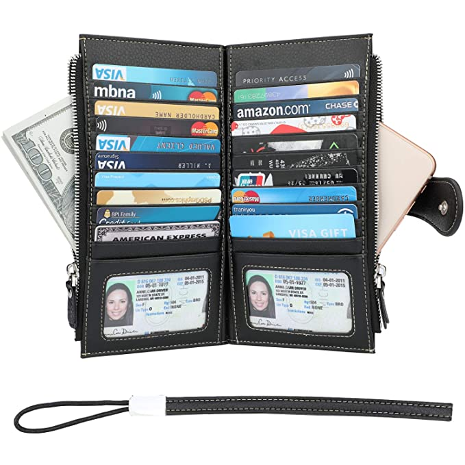 Amazon.com: Cartera para mujer – Bloqueo RFID de cuero ...