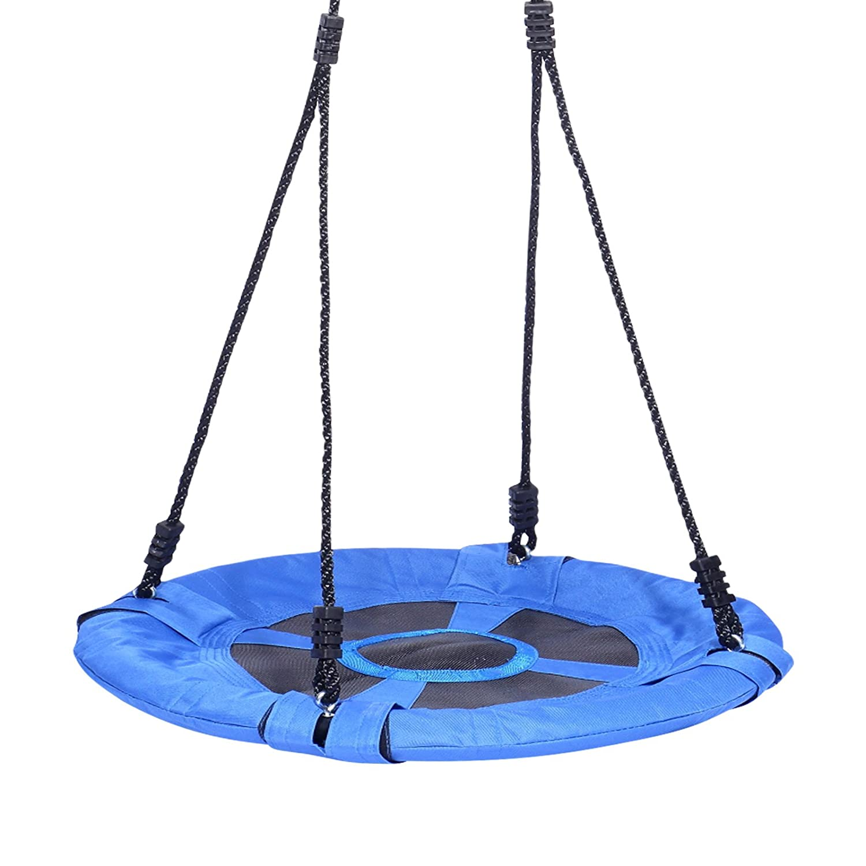 Yorbay S44Nest Swing for Children Round Swing Ourdoor Garden Plate Diameter 60cm up to 100kg, Blue