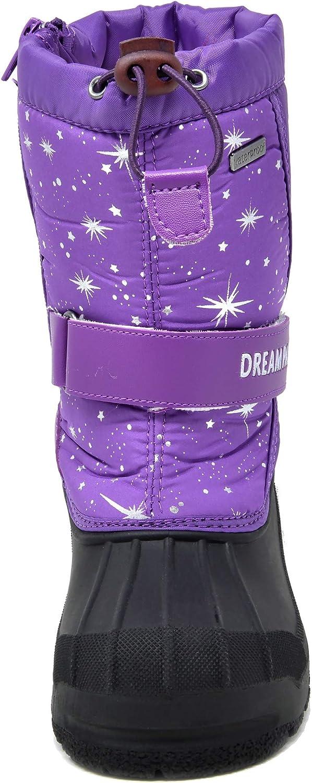 DREAM PAIRS Boys /& Girls Mid Calf Waterproof Winter Snow Boots
