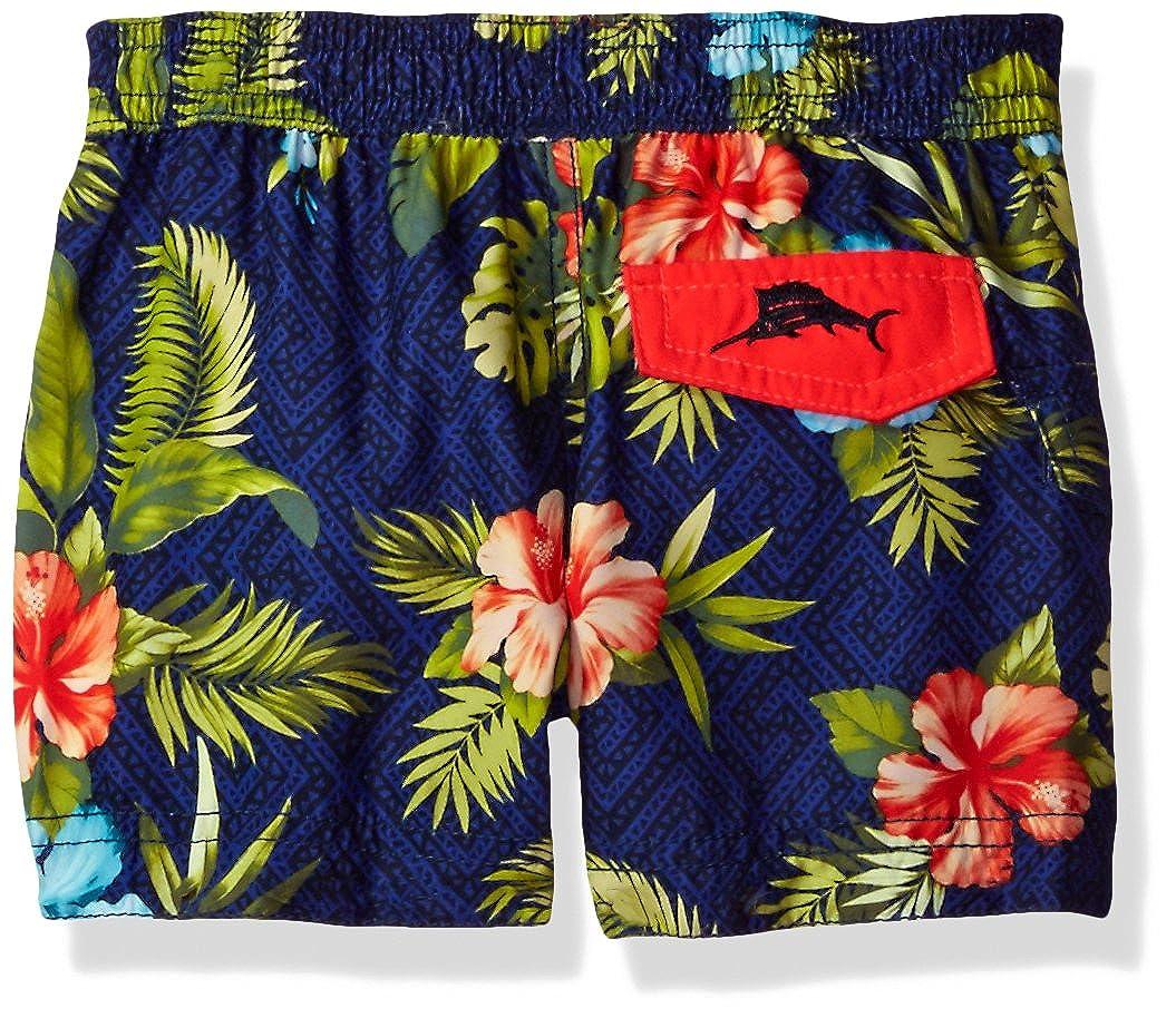 Tommy Bahama Boys Relax Sleeve Rash Guard Palm Leaves Swim Short Set