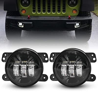 LX-LIGHT 4 Inch 60W Cree LED Fog Light with EMC for Jeep Wrangler TJ LJ JK Dodge Journey Front Bumper Lights(Pair): Automotive