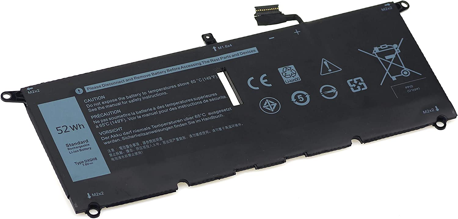 DXGH8 Laptop Battery Replacement for Dell XPS 13 9370 9380 Inspiron 13 7390 7391 2-in-1 5390 5391 7490 Latitude 3301 E3301 Vostro 5390 5391 Series D1605G D1605S [7.6V 56Wh]-New Noetbook Battery