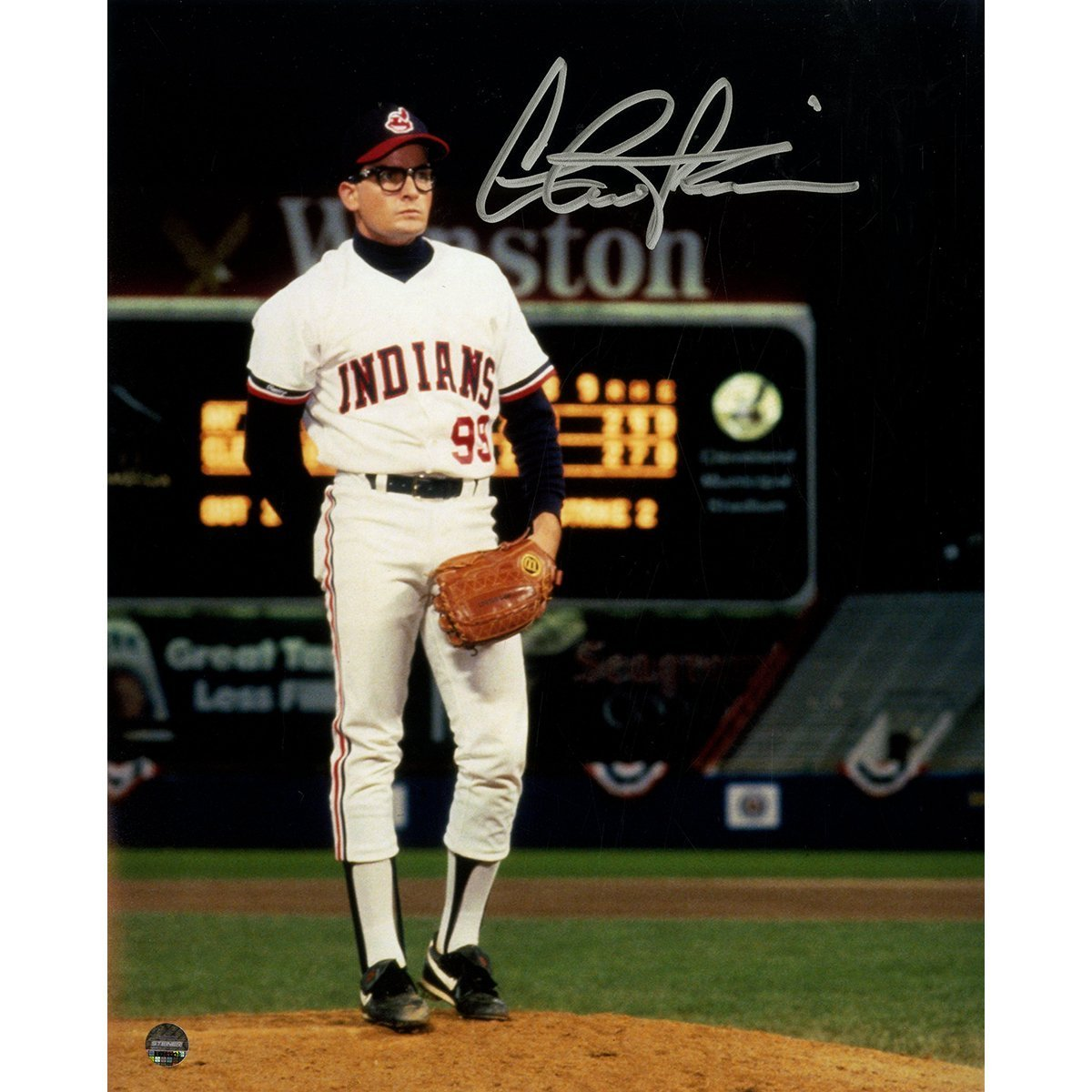 8dcc82b72 Charlie Sheen Signed Major League 8x10 Photo at Amazon's Sports  Collectibles Store