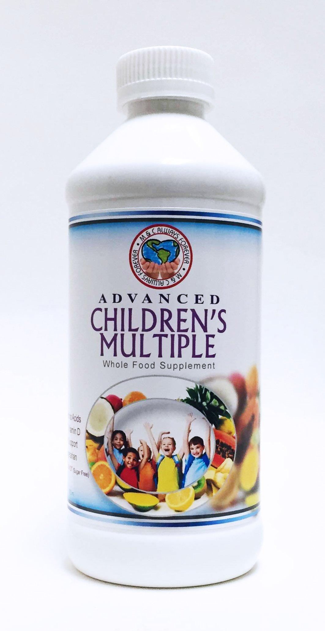 MandC alwaysforever Advanced Childrens Multiple Vitamins, 16Fl Oz, Tropical Flavor