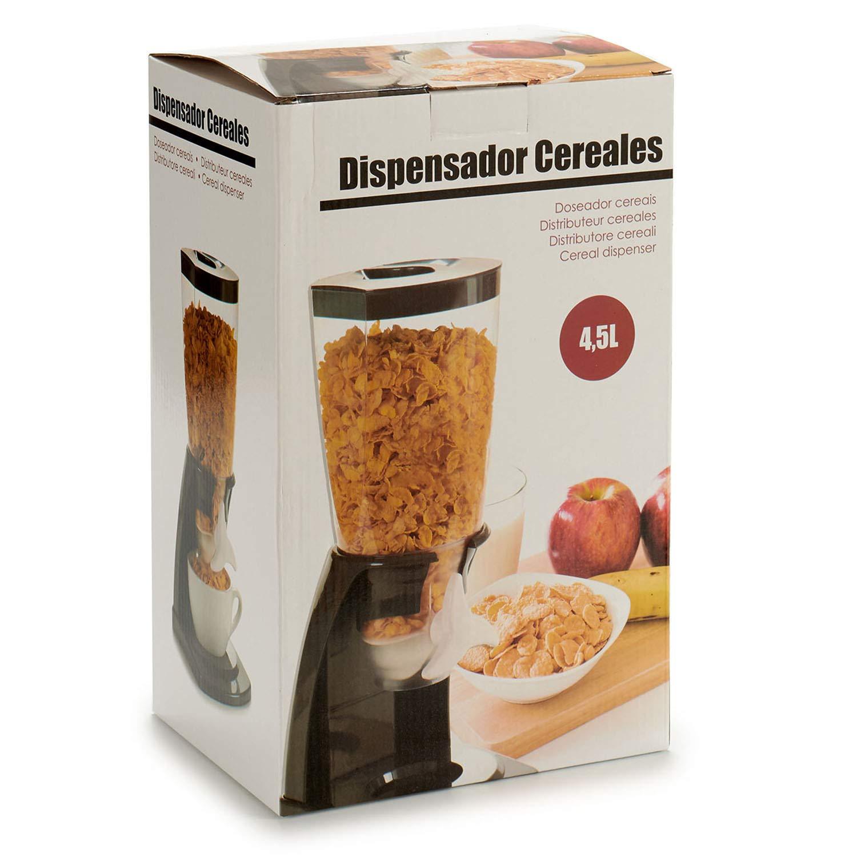 TU TENDENCIA UNICA Dispensador de Cereales de plástico Polipropileno Negro.Gran Capacidad de Almacenamiento y Base Ancha.: Amazon.es: Hogar