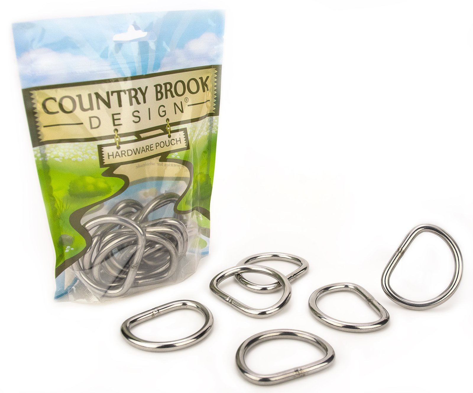 50 - Country Brook Design - 1 1/2 Inch Stainless Steel Welded D-Rings by Country Brook Design